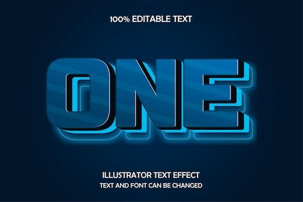 Eén, bewerkbare teksteffect neon reliëfstijl