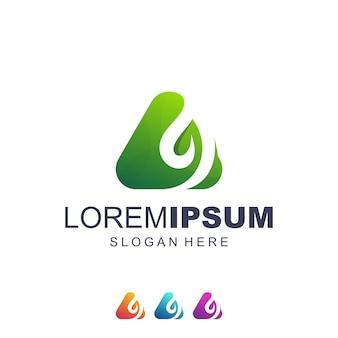 Een blad logo vector