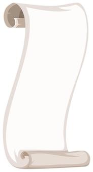 Een blanco papieren rolsjabloon