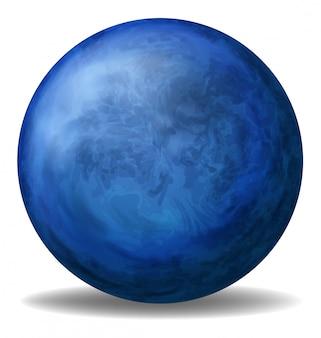 Een blauwe bal