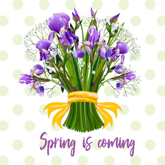 Een boeket van lentebloemen