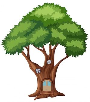 Een boomhut geïsoleerd
