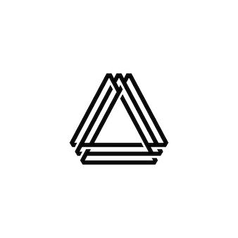 Een brief driehoek logo vector pictogram illustratie