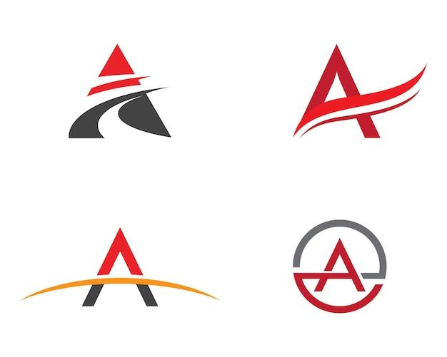 Een brief logo business sjabloon vector pictogram ontwerp