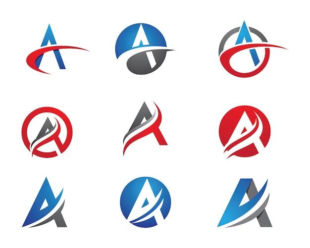 Een brief logo business sjabloon vector pictogram