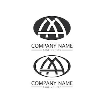 Een brief logo sjabloon vector pictogram illustratie ontwerp
