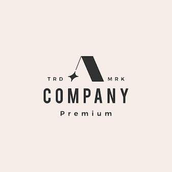 Een brief ster hipster vintage logo