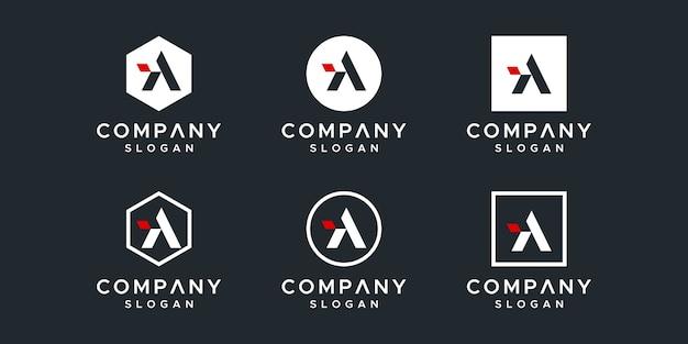 Een briefsjabloon logo-collectie