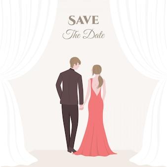 Een bruid en bruidegom bruidspaar