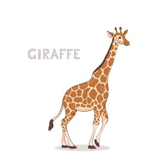 Een cartoon giraffe