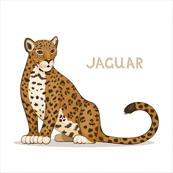 Een cartoon jaguar