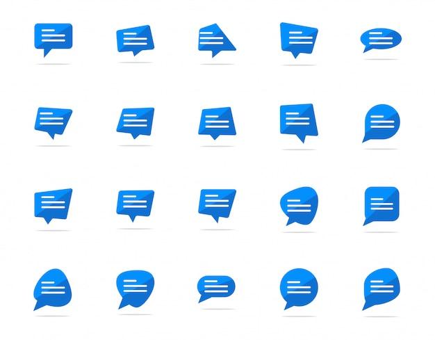 Een chatballonpictogram typen