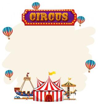 Een circus notitie sjabloon