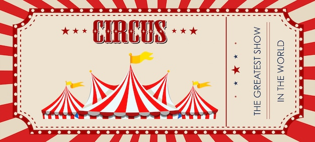 Een circus-ticket sjabloon