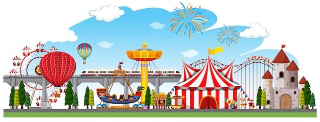 Een circuspanorama