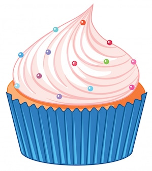 Een cupcake geïsoleerd