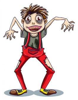 Een dansende zombie