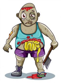 Een dikke zombie