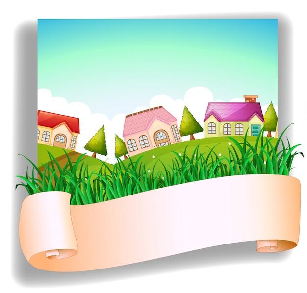Een dorp met een bewegwijzering