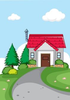 Een eenvoudige huisachtergrond