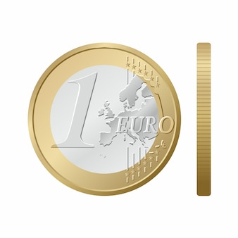 Een euro-muntstuk.
