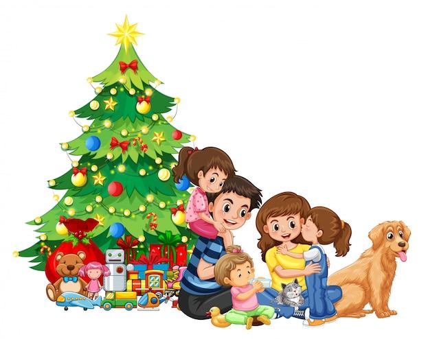Een familiebijeenkomst met kerstmis