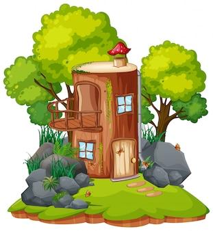 Een fantasie-paddestoelhuis