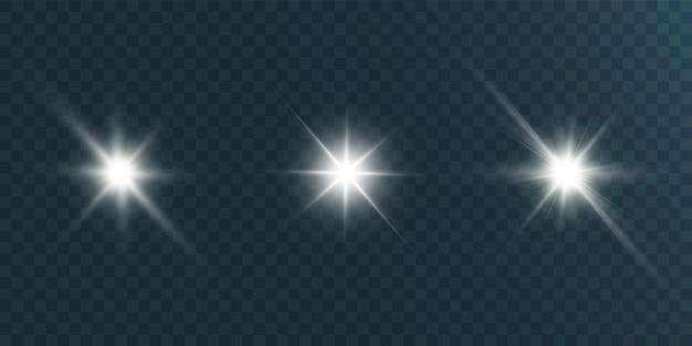 Een felle lichtflits flikkert