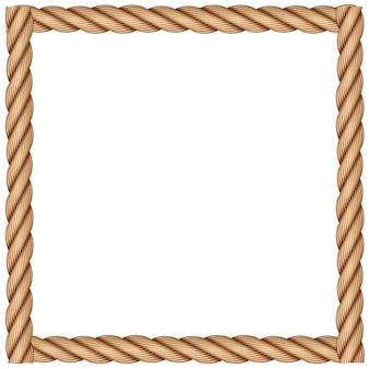 Een frame gemaakt van touw