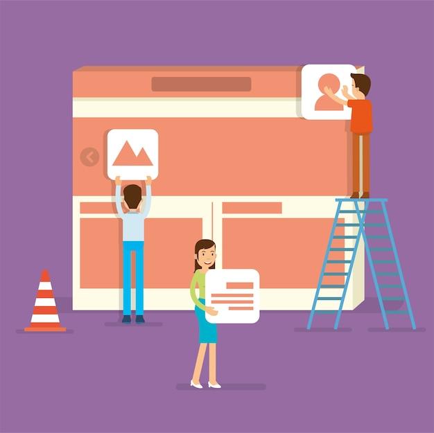 Een front-end specialist building website gebruikersinterface