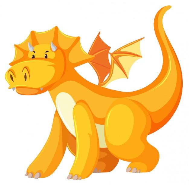 Een geel drakenkarakter