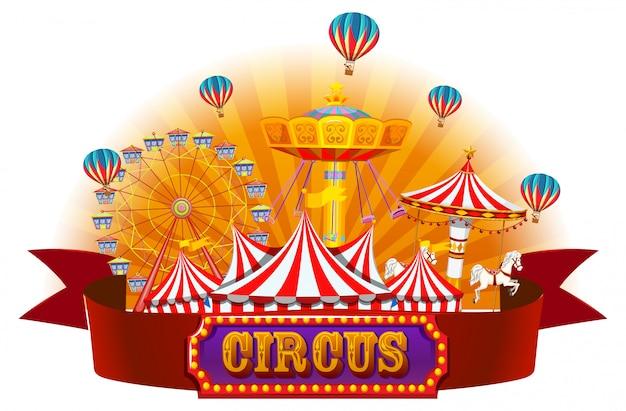 Een geïsoleerde circusbanner