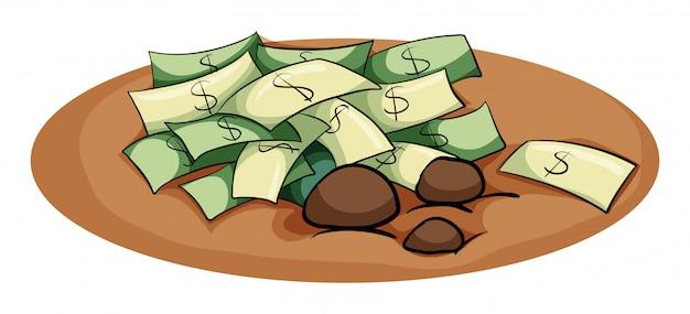 Een geld in de kuil