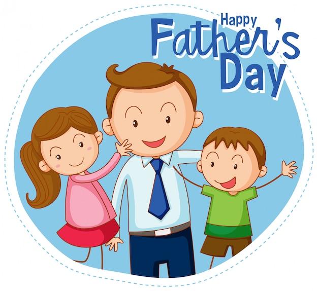 Een gelukkige vaders dagbanner