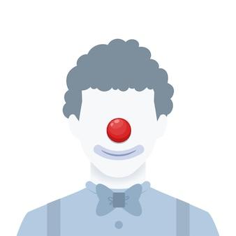 Een gezichtsloos portret van een clown. geïsoleerde vectorillustratie