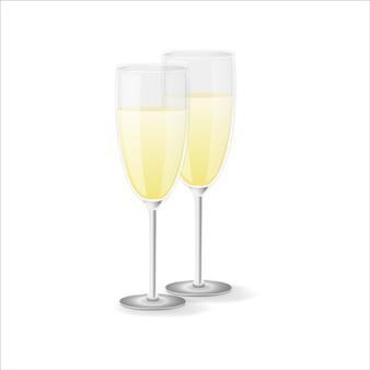 Een glas champagne.