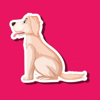 Een golden retriever-sticker