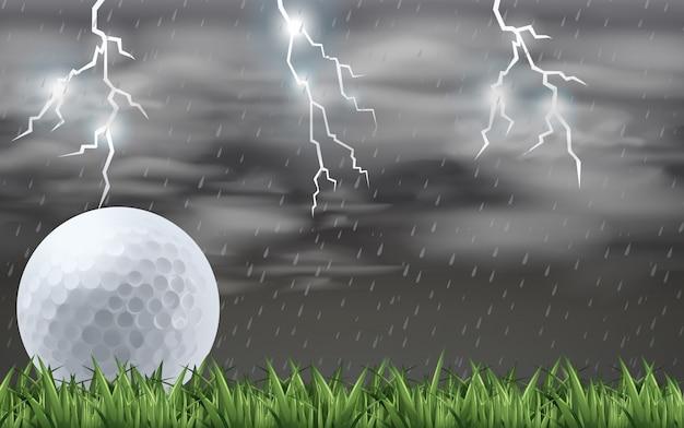Een golf op het veld