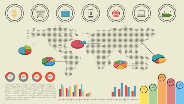 Een grafische interface van de economie