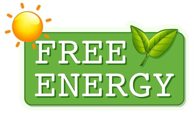 Een gratis energieteken banne