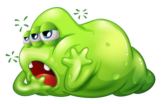 Een greenslime-monster in verveling