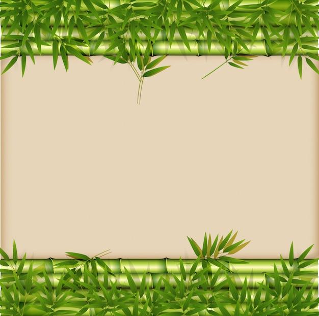Een groene bamboemalplaatje