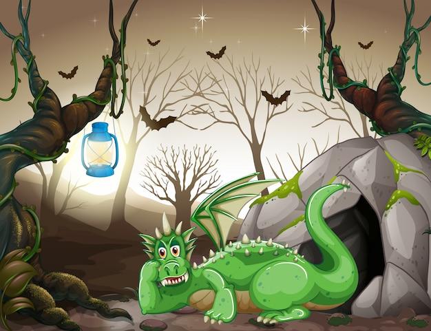 Een groene draak voor c