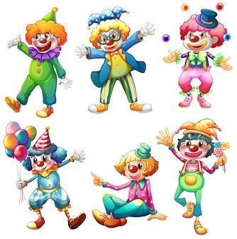 Een groep clowns