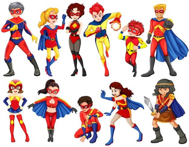 Een groep helden