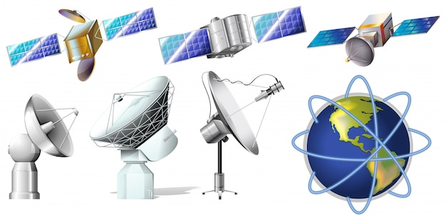 Een groep satellieten