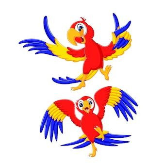 Een groep schattige papegaaien cartoon