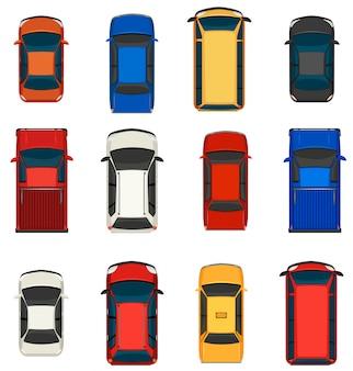 Een groep voertuigen