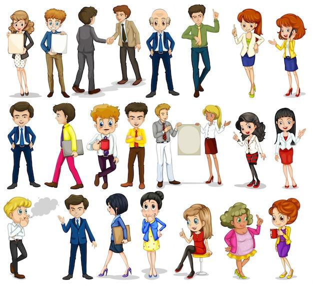 Een groep zakengerichte mensen