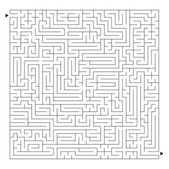 Een groot vierkant labyrint